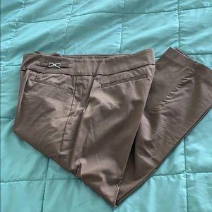 Stretch dress crop pants